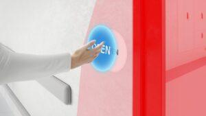 Virtuele contactloze drukknop